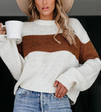 Muyogrt Loose Autumn Winter Striped Sweater Women Pullover Womens Sweaters High Quality Oversized Color Block Sweater Jumper