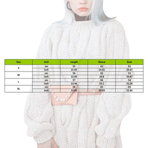Muyogrt Twist Knit Sweater Woman Solid Color Jumper Loose Plus Size Knitted Pullover Tops Autumn Winter Knitwear Streetwear