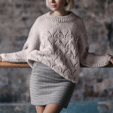 Muyogrt Hollow Out Sweaters 2020 Women Autumn Winter O-neck Long Sleeve Knitted Pullovers Jumpers Casual Ladies Loose Knitwear