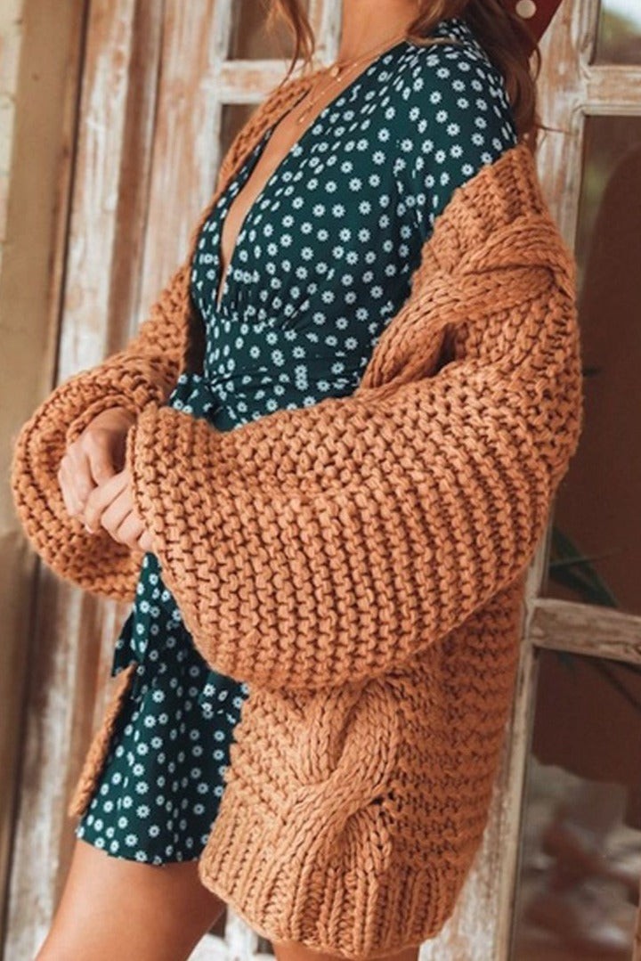 Muyogrt Women Long Cardigan Solid Lantern Sleeve Sweater Coat 2020 Autumn Female Knitting Outwear Jacket Casual Knittwear