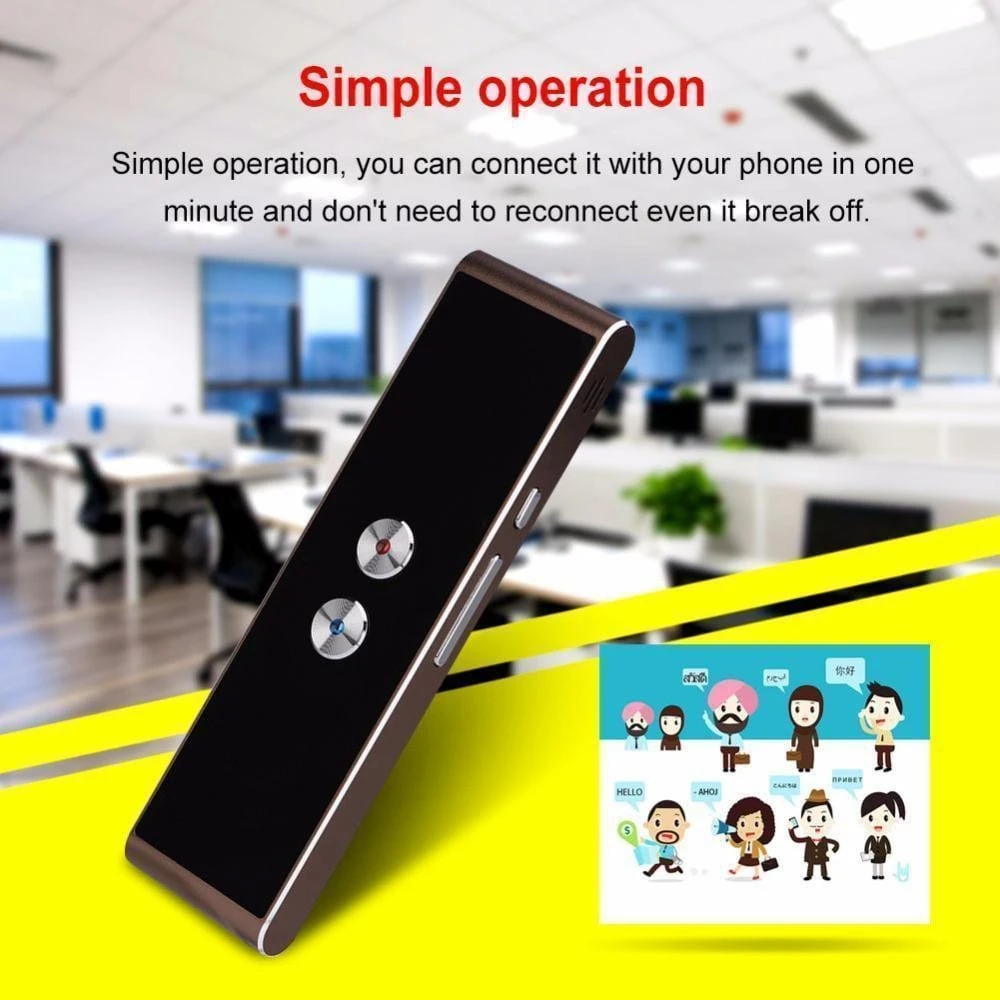 40+ Languages Portable Instant Voice Translator