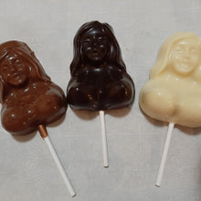 Load image into Gallery viewer, Chocolate Bare Breasts Lollipop (1pc)