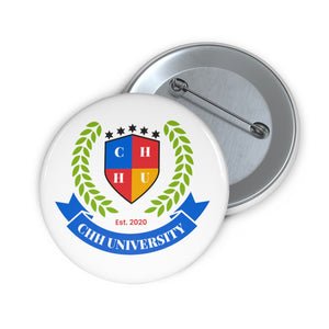 CHHU CREST Button (color logo, white)