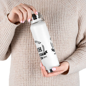 CHHU PROPERTY OF 22oz Vacuum Insulated Bottle (black logo)
