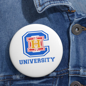 CHHU LETTERS Button (color logo, white)