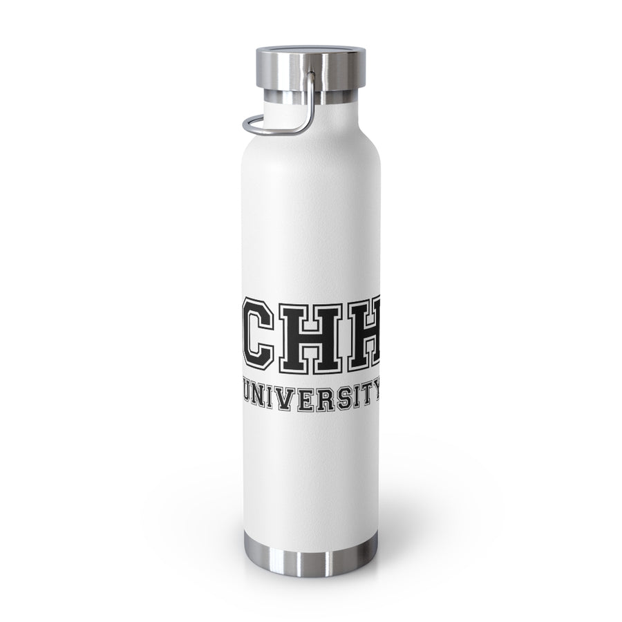 CHH UNIVERSITY 22oz Vacuum Insulated Bottle (black logo)