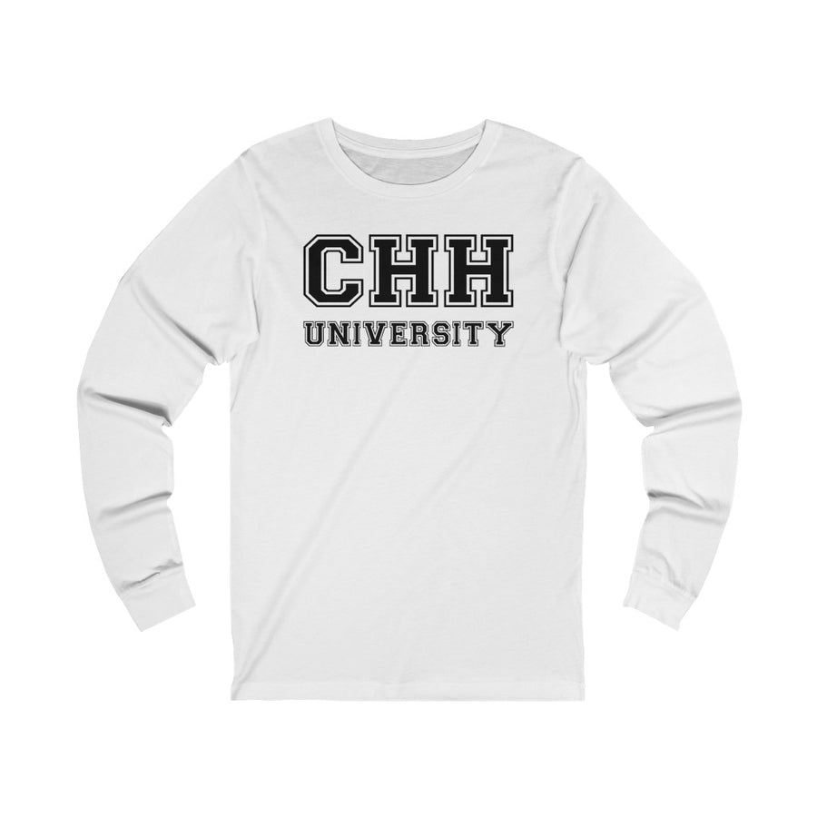 CHH UNIVERSITY LONG SLEEVE UNI-TEE® (black logo)