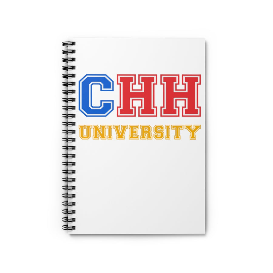 CHH UNIVERSITY Notebook - (color logo, white)