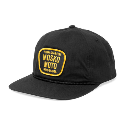 Mosko Moto Apparel Black Trail Captain Hat