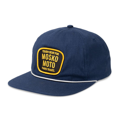 Mosko Moto Apparel Navy Trail Captain Hat