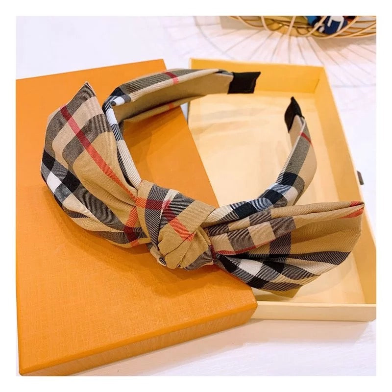 Signature BB Plaid Headbands