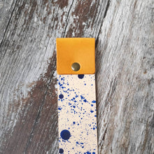 Load image into Gallery viewer, Yellow and Blue splat Leather Bookmark - Wild Origin