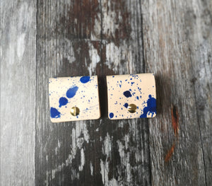 Blue Ink Splat Cord Keepers - Wild Origin
