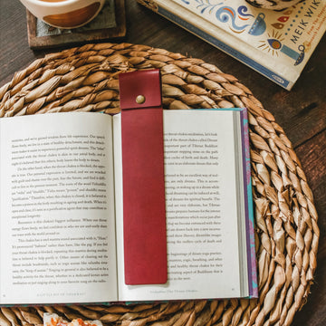 Burgundy Leather Bookmark