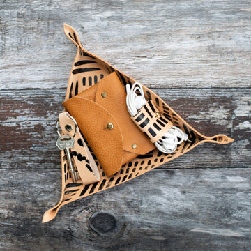 Triangle Leather Tray - Wild Origin