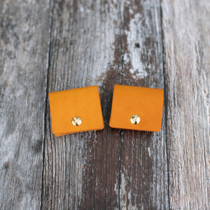 Yellow Leather Cord Keepers - Wild Origin