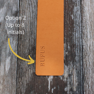Olive Green Leather Bookmark - Wild Origin