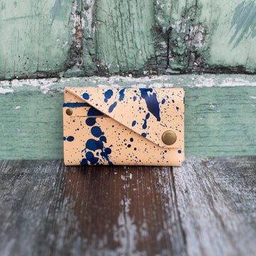 Blue Speckled Card Holder - Wild Origin