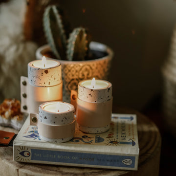 Leather & Eco Resin Tealight Candles Holders