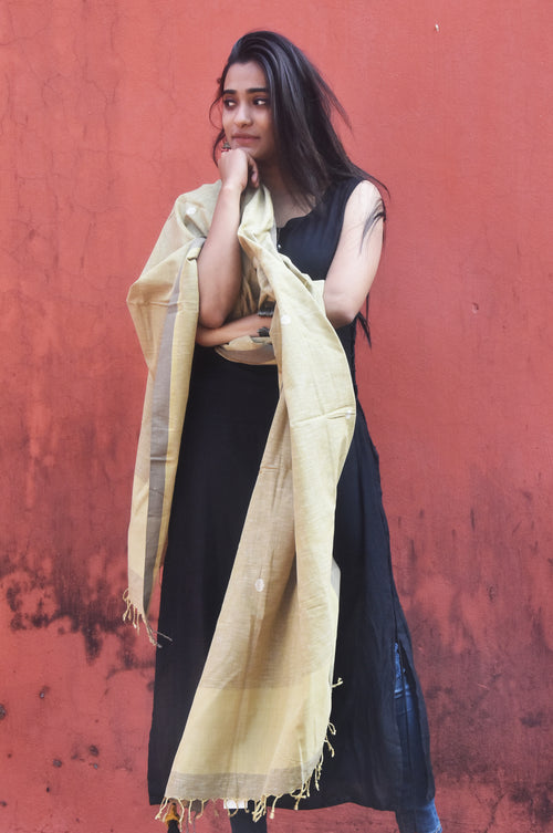 Natural Dye Cotton Dupatta- Textile-Odisha