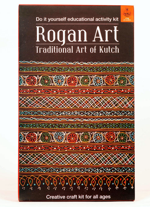 DIY Educational Colouring Kit - Rogan Art of Kutch For Young Artists (5 Years+) - @ShopChaupal