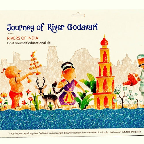 Educational Colouring Kit Learning Activity about Rivers Of India (River Godavari) - @ShopChaupal