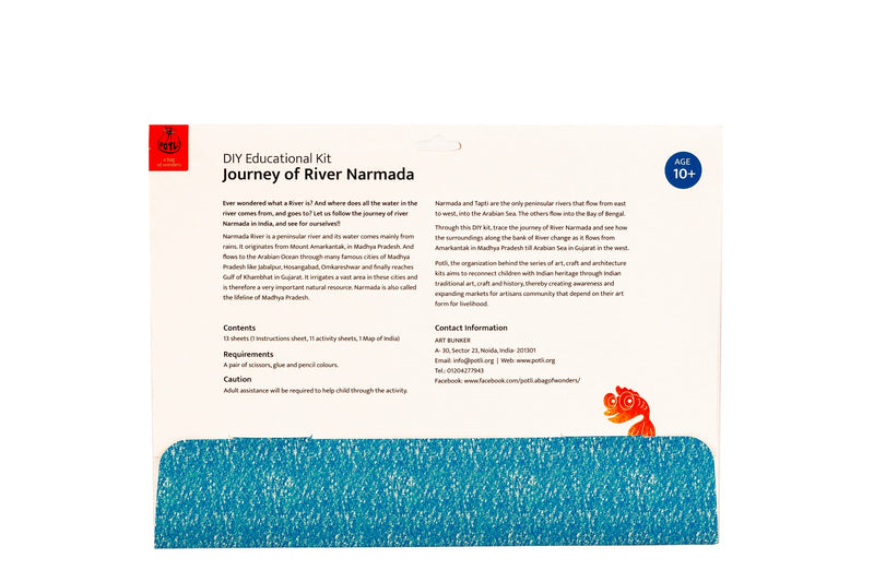 Educational Colouring Kit Learning Activity about Rivers Of India (River Narmada) - @ShopChaupal