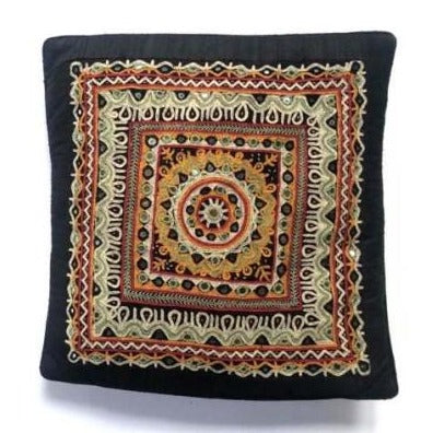 Handmade Silk Cushion Cover - Gujrat