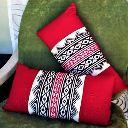 Toda Embroidery Cushion Covers (Pair)- Ootacamund, Tamilnadu - @ShopChaupal