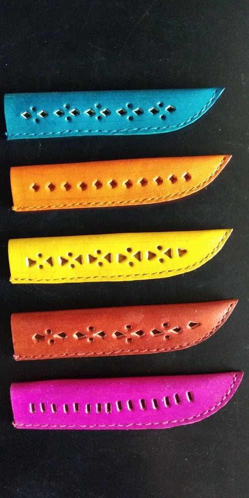 Handmade Leather Miyan Small ( Knife cover )- Kutch Gujarat - @ShopChaupal
