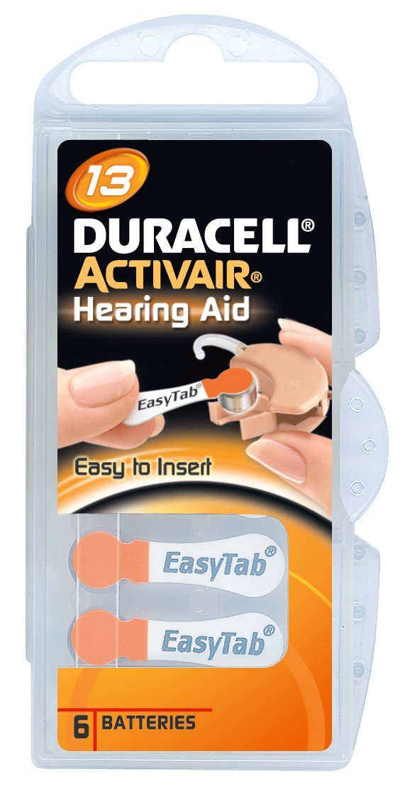 Duracell Activair Hearing Aid Batteries Size 13