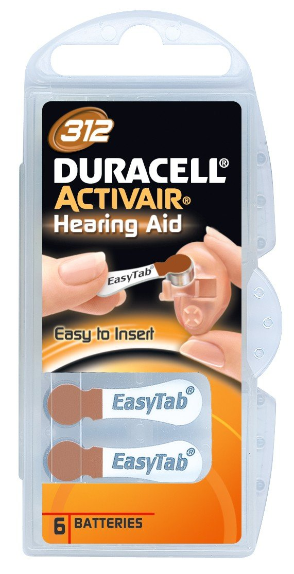 Duracell Activair Hearing Aid Batteries Size 312