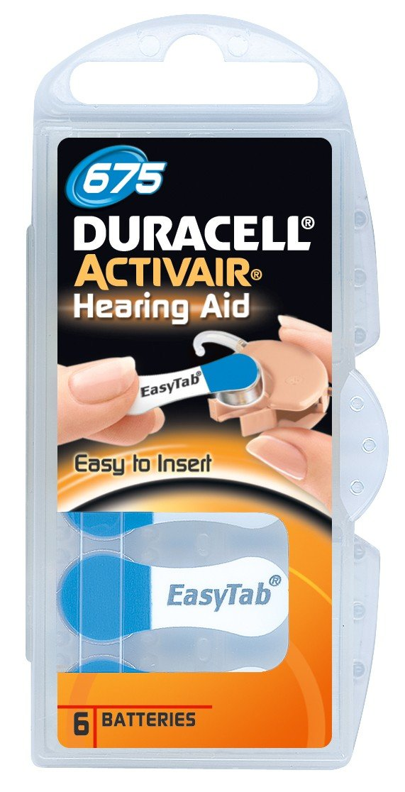 Duracell Activair Hearing Aid Batteries Size 675