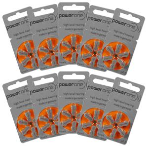 Power One Hearing Aid Batteries Size 13 Pack of 60