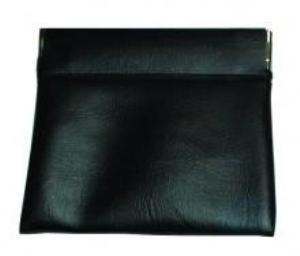 Black pouch with clip