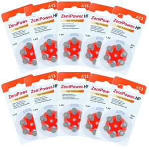 Zenipower Hearing Aid Batteries Size 13 Pack of 60