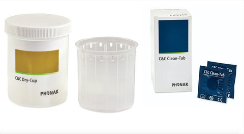 Phonak 'C&C Line' Drying Beaker & Tablets