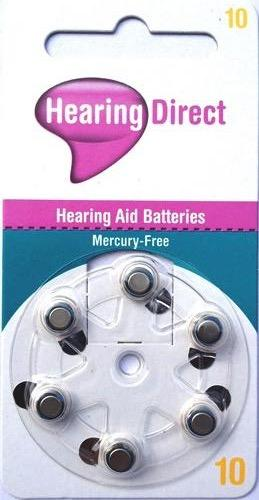 Hearing Direct Hearing Aid Batteries Size 10