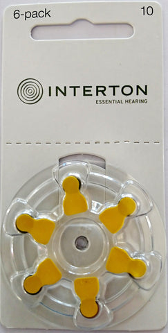 Interton Hearing Direct Hearing Aid Batteries Size 10
