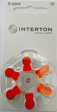 Interton Hearing Aid Batteries Size 13 Pack of 60