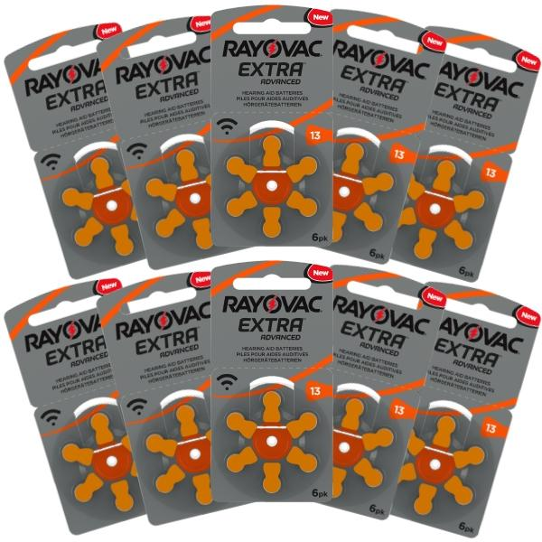 Rayovac Hearing Aid Batteries Size 13 Pack of 60