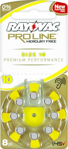 Rayovac Proline size 10 hearing aid batteries
