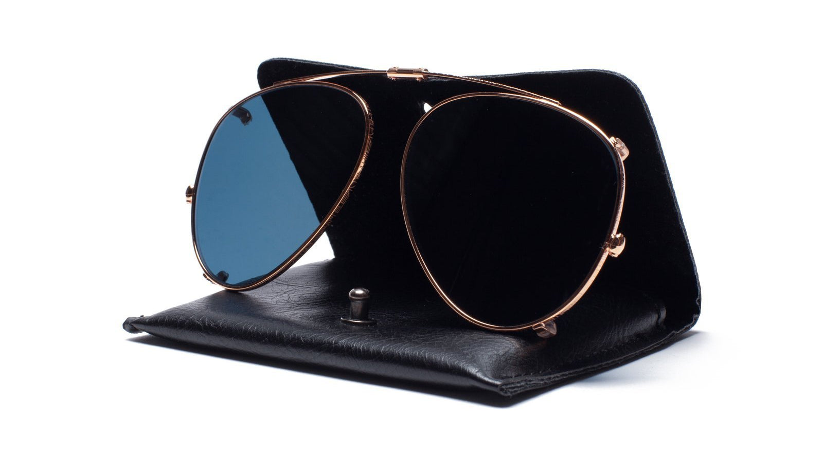 Ahlem Pantheon Clip Sunglasses Rose Gold