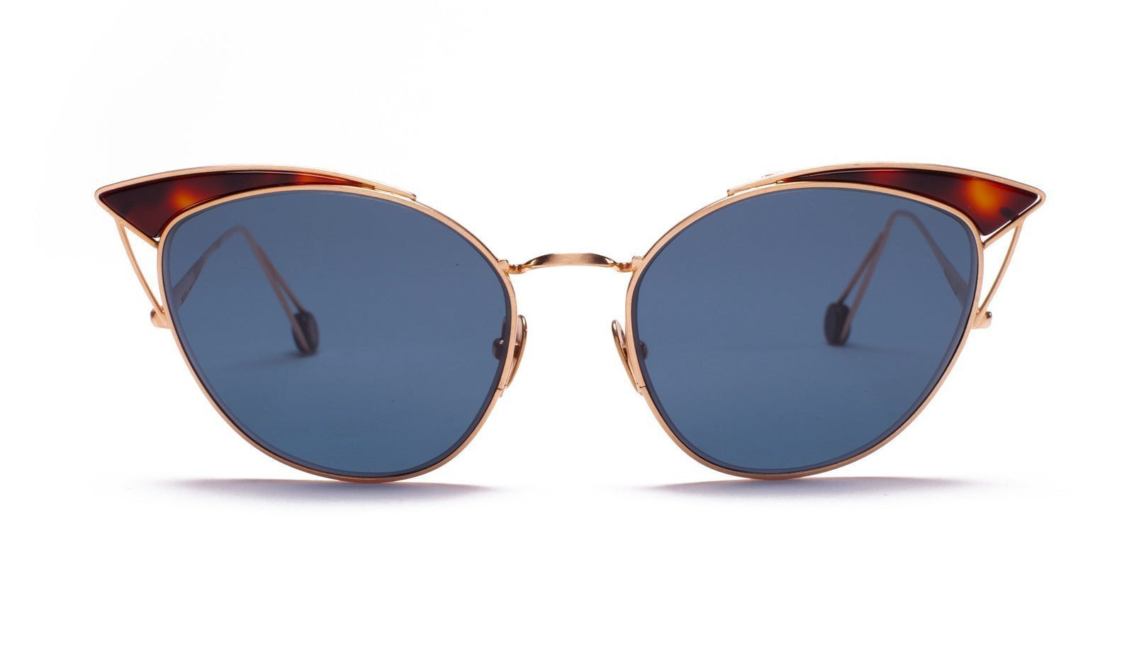 Ahlem Place Violet Sunglasses Rose Gold