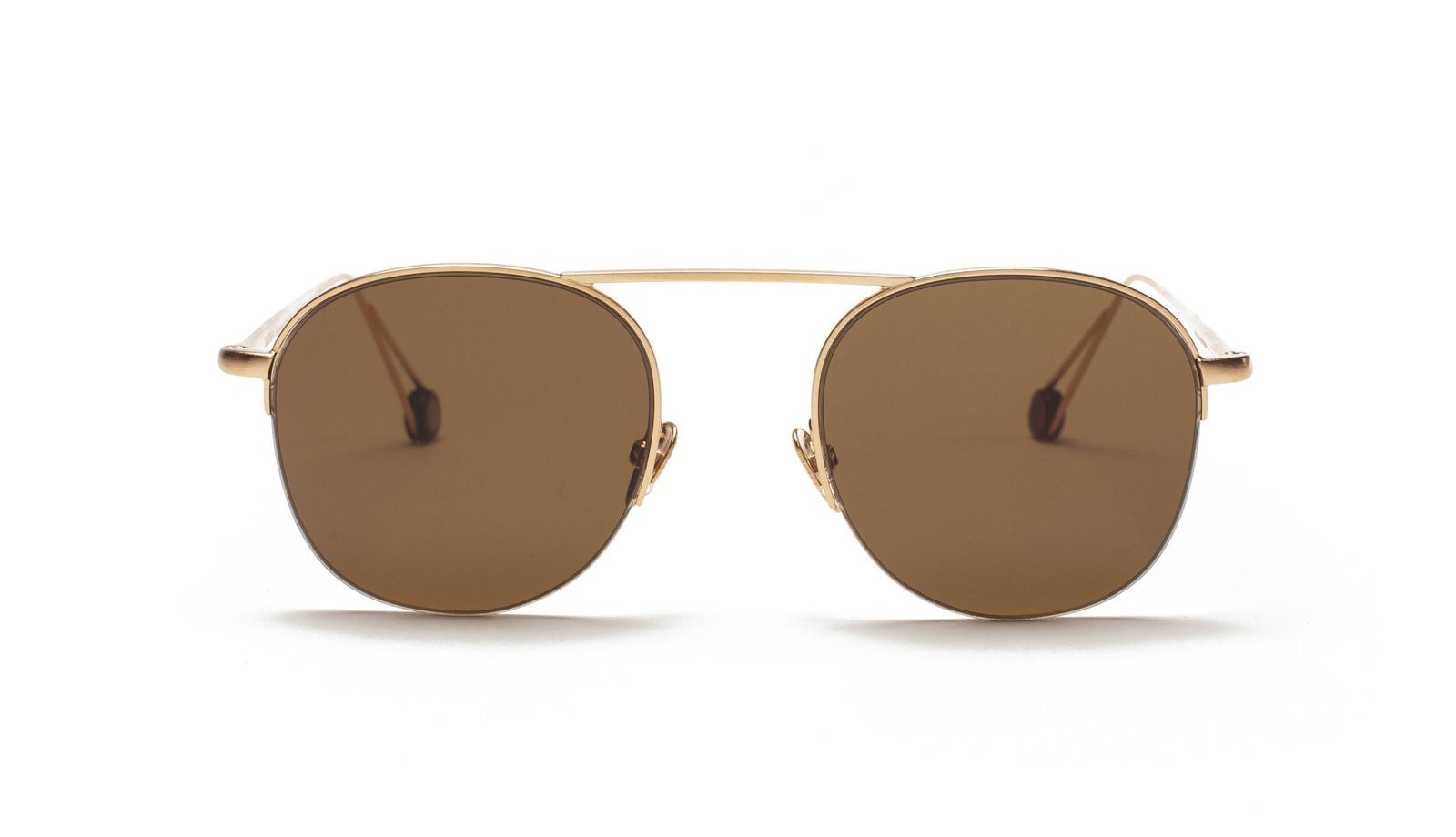 Ahlem Voltaire Sunglasses Brushed Champagne