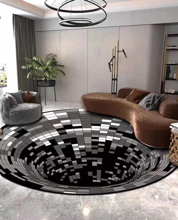The Disco Rug™ | Handcrafted 3D Illusion House Mat