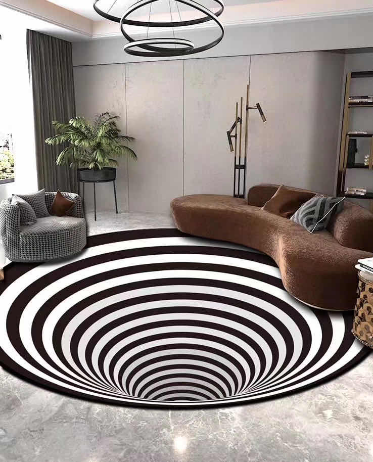 The Whirlpool Rug™ | Handcrafted 3D Illusion House Mat