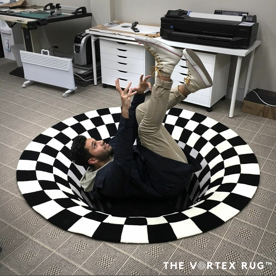 TheVortexRug™ | Handcrafted 3D Illusion House Mat