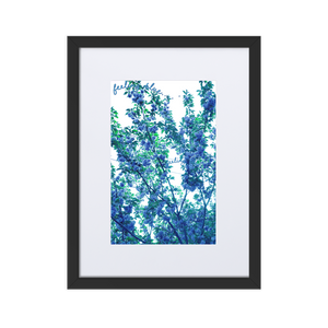 Feeling Blue... Framed Floral Print with Matting