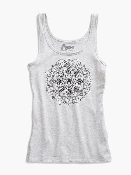 Lotus Jersey Tank in Heather Gray